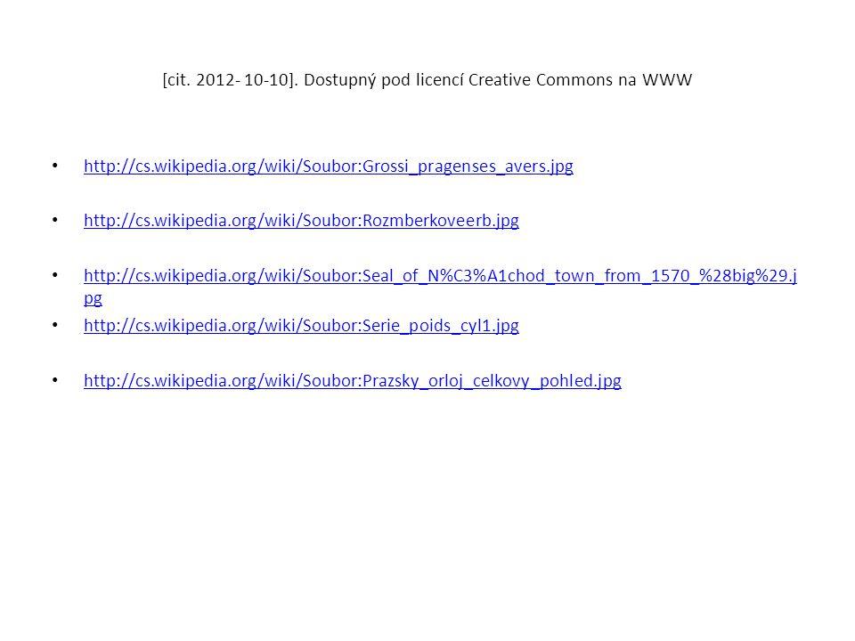 [cit. 2012- 10-10]. Dostupný pod licencí Creative Commons na WWW